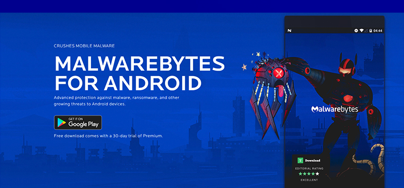 آنتی ویروس Malwarebytes Security: Virus Cleaner , Anti-Malware